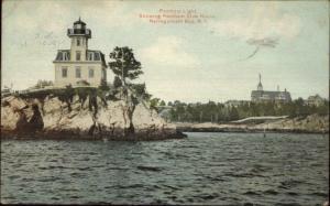 Narragansett Bay RI Pomham Lighthouse c1910 Postcard