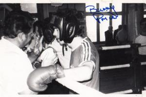 Barry Price Crawley Sussex 70s Boxer Hand Signed Boxing Autograph Vintage Photo