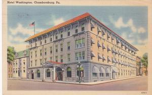 Hotel Washington, CHAMBERSBURG, Pennsylvania, PU-1949