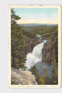 ANTIQUE POSTCARD NATIONAL STATE PARK YELLOWSTONE UPPER FALLS #3