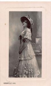 Edwardian Actress Gabrielle Ray Dress Postcard