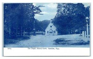 Postcard The Chapel, Asbury Grove, Hamilton, Mass (blue tint) Y65