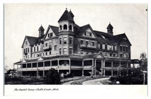 The Haskill/Haskell Home for Orphans, Battle Creek, MI Postcard BURNED DOWN 1909