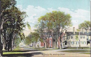 Augusta ME -  lovely Winthrop Street, published by Leighton #4396, 1900s