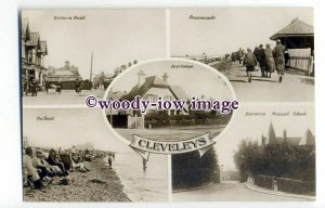 tq2110 - Lancs - Multiview x 5, Various Early Views around Cleveleys - Postcard