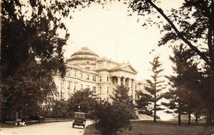 Ames IA~Iowa State Agricultural College~Administration Building~1920s Cars~RPPC