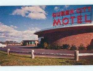 Unused 1950's QUEEN CITY MOTEL Manchester New Hampshire NH u6994-13