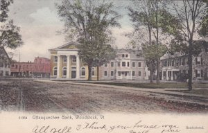 Vermont Woodstock Ottauquechee Bank 1907 Rotograph sk2905