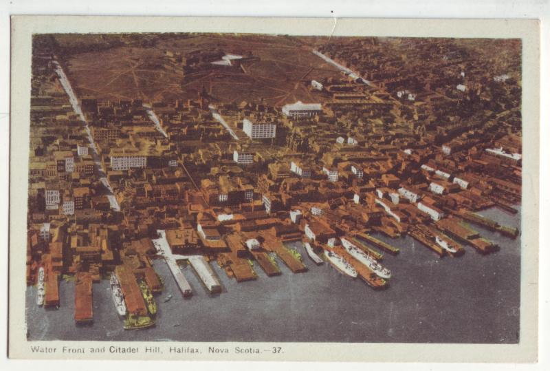 P938 vintage airview harbor water front citadel hill haifax nova scotia