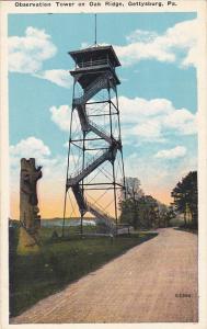 Observation Tower On Oak Ridge Gettysburg Pennsylvania
