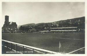switzerland, NEUCHÂTEL, Parc des Sports (1930s) Stadium Postcard RPPC