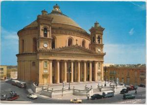 MALTA, Dome of Mosta Parish Church, used Postcard