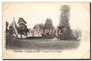 Postcard Old Sarthe Chateau du Luart Great Gate entrance