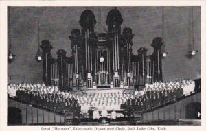 Utah Salt Lake City Great Mormon Tabernacle Organ and Choir