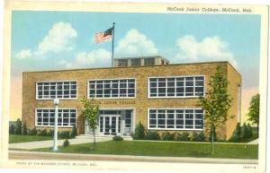 Linen Card of McCook Junior College McCook Nebraska NE