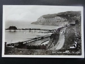 Isle of Wight SHANKLIN East Cliff & Pier c1940's RP Postcard by Dean