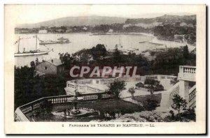 Old Postcard Panorama From Tamaris And Coat Ships