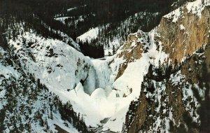 Postcard Winter View Lower Falls Yellowstone Natl Prk Geyser Unposted VPC0.