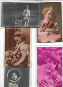 Jugendstil Kids RPPC Postcard Lot of 10 01.11