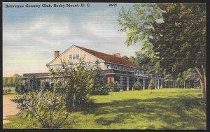 Benvenue Country Club Rocky Mount North Carolina Unused c1930s
