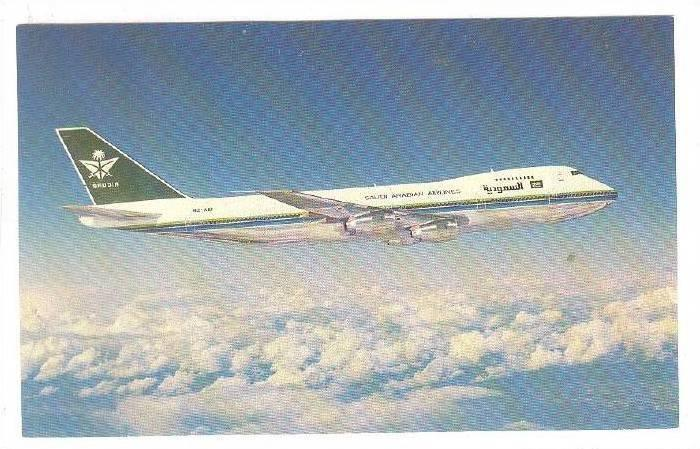 Airplane, Saudi Arabian Airlines, Boeing 747-168B, Kingdom Of Saudi Arabia, 1...