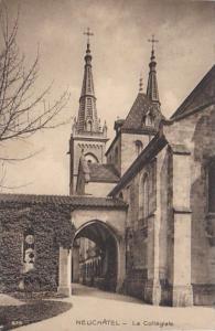 Switzerland Neuchatel La Collegiale 1919