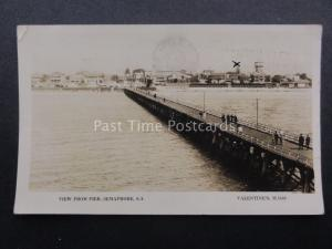 Australia ADELAIDE Semaphore View from the Pier c1928 RP by Valentine's