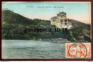 dc1746 - PORTUGAL Setubal 1931 Palacio da Comunda. Sent to US