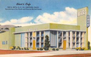 Ventura California Blairs Cafe Street View Antique Postcard K62500