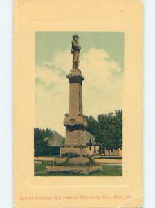 Divided-Back MONUMENT Walla Walla Washington WA HJ8029