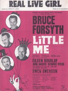 Little Me Real Live Girl Bruce Forsyth 1960s Sheet Music