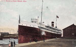 DULUTH MINNESOTA SS HURONIC AT DOCK POSTCARD c1910