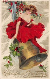 LP05 Postcard Christmas Collectible Winsch Schmucker Beautiful Woman