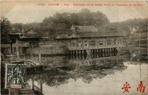 CPA AK INDOCHINA Annam Pavillons sur le bassin fleuri VIETNAM (956966)