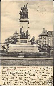 romania, BUCHAREST BUCURESTI, Statue Ion Bratianu 1909