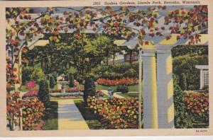 Wisconsin Kenosha Lincoln Park Sunken Gardens Curteich
