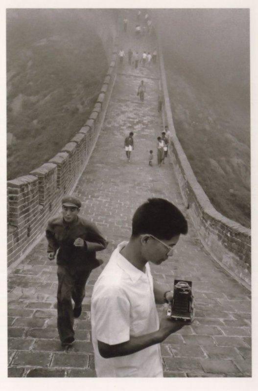 Vintage Camera Tourist Photographer Great Wall Of China Award Postcard