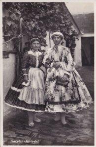 Sarkozi Nepviselet Hungary Real Photo Costume Postcard