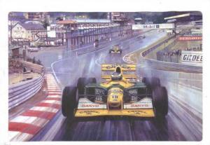 Racing postcard by Artist Michael TURNER, 1995 ; #3