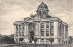 B59/ Forsyth Montana Mt Postcard c1910 Court House Building
