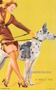 Perfect Pair 1945 Mutoscope Artist Pin Up Girl, Non Postcard Backing Unused