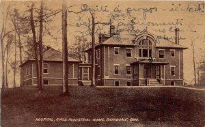 G27/ Rathbone Ohio Postcard 1911 Hospital Girls Industrial Home