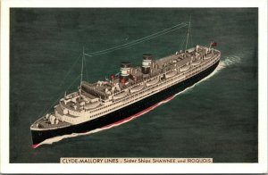 Clyde-Mallory Lines Sisterships Algonquin, Shawnee and Iroquois - Postcard