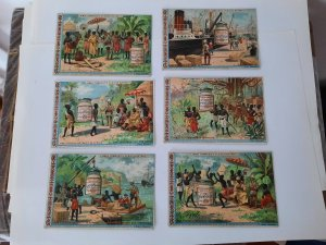 Afrika  Trade Cards- Advertising- German Liebig Company  - 6 pieces