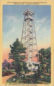 Steel Observation Tower On Hot Springs Mountain Hot Springs National Park Ark...