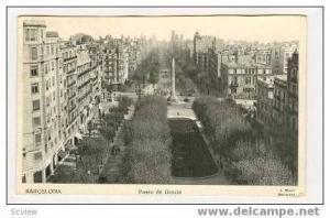 Paseo De Gracia, Barcelona, Spain, 1930s