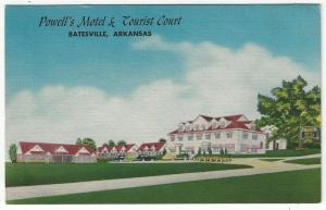 Batesville, Arkansas, Early View of Powell's Motel & Tourist Court