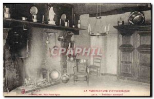 Postcard Old Normandy Interior Normand