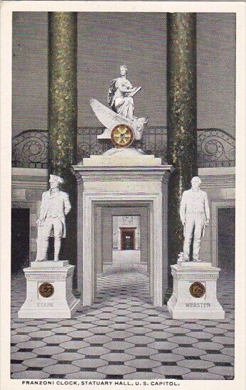 Franzoni Clock Statuary Hall U S Capitol Washington D C