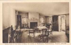 Virginia Fredericksburg Dining Room In Home Of Mary Mother Of George Washingt...